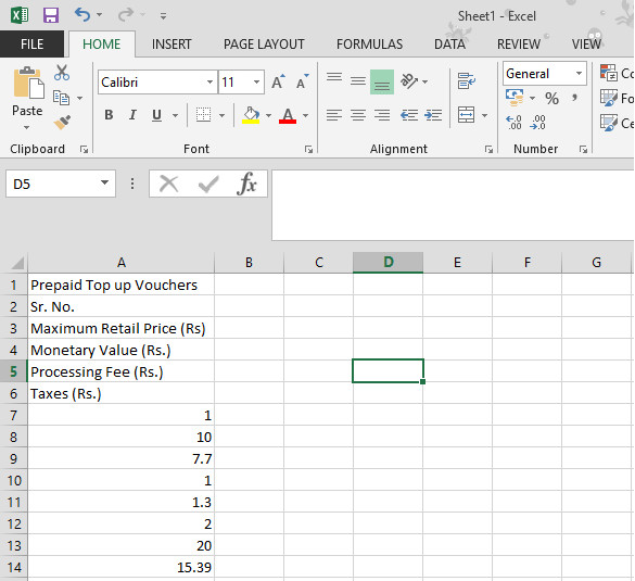 copying tables to excel sheet