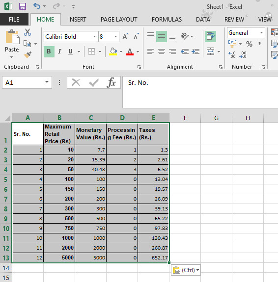 Copy Tables from PDF to Excel