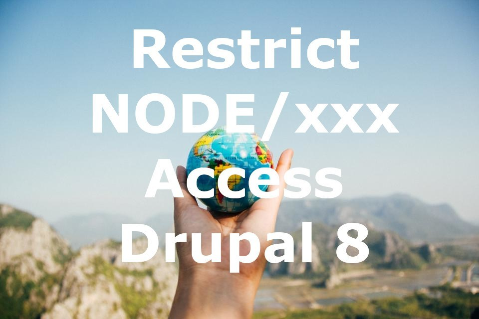 block node access node/xxx in drupal 8