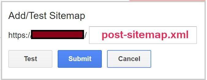 enter sitemap address manually in google search console