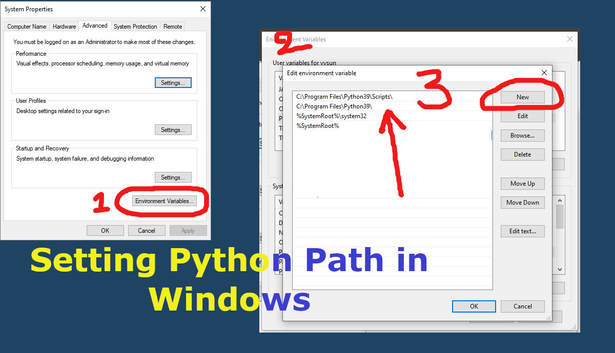 Adding Python PATH to Windows Environment Variables