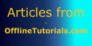 Articles from OfflineTutorials.com
