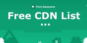free font awesome cdn list