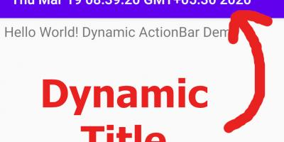 Android Dynamic actionbar or toolbar title changing