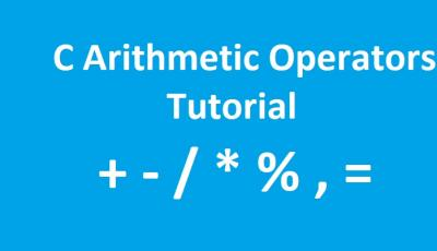 c arithmetic operators tutorial