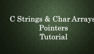 c string char arrays tutorial