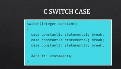 c switch case syntax usage examples tutorial