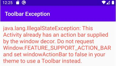 Android Action Bar Already Supplied By Window Decor