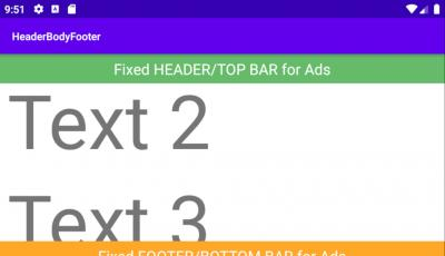 Android Header Body Footer Layout Example with ScrollView and RelativeLayout