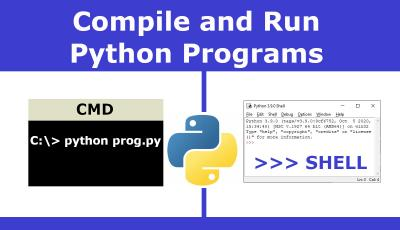 compile and run python programs in cmd and shell prompt