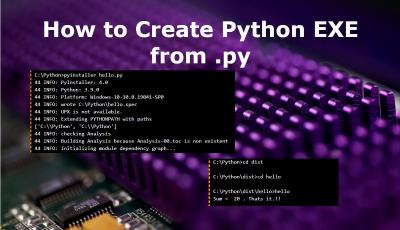 Create Executable from Python PY file
