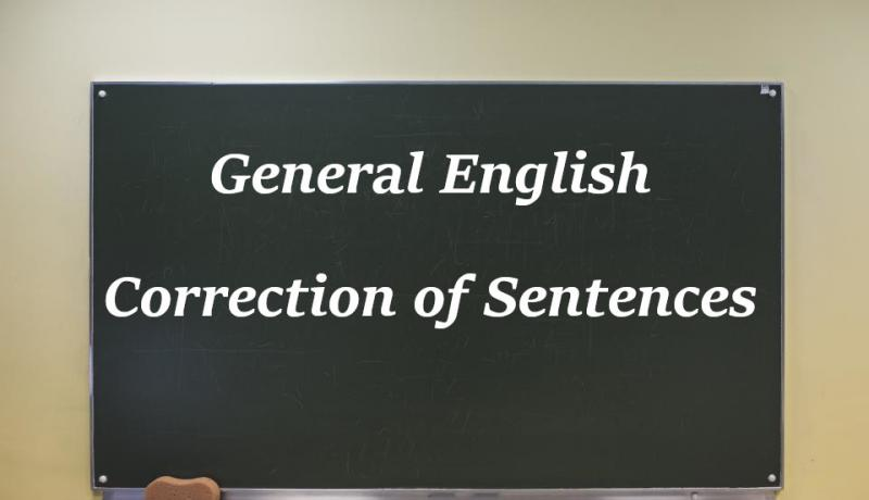 English Correction of Sentences