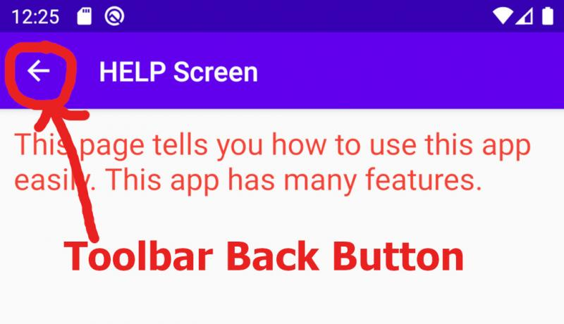 android toolbar back button show click problem