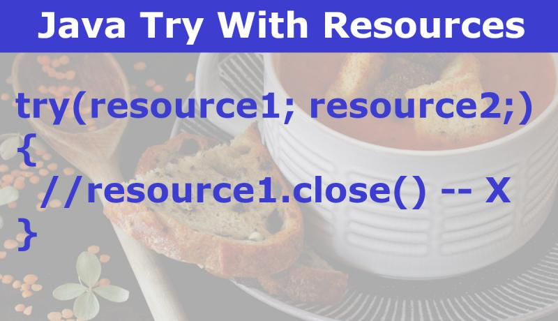 Java Try With Resources Example Tutorial
